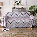 billige Tæpper ogplaider-Sofa kaste, Stribet Bomuld / Polyester Frynsetip dyner