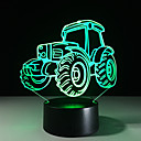 cheap Décor Lights-Tractor 3D Visual Lamps 7 Colors Changing Acrylic Night Light for Children 5V