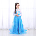 זול תחפושות בנושאי טלוויזיה וסרטים-נסיכות שמלות תחפושות קוספליי בנות תחפושות משחק של דמויות מסרטים רטרו\וינטאג' נסיכות כחול שמלה האלווין (ליל כל הקדושים) נשף מסכות טול כותנה
