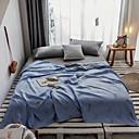 levne Tenké deky a přehozy-Přikrývky, Jednobarevné Bavlna Měkký povrch Pohodlný Extra měkké přikrývky