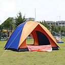 رخيصةأون مفارش و خيم و كانوبي-4 شخص خيمة التخييم العائلية في الهواء الطلق التنفس إمكانية يمكن ارتداؤها طبقات مزدوجة أوتوماتيكي خيمة التخييم 2000-3000 mm إلى تنزه الألياف الزجاجية 200*200*135 cm