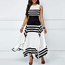 رخيصةأون الأزياء التنكرية التاريخية والقديمة-فستان نسائي متموج قطن طويل للأرض مخطط