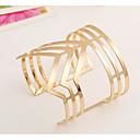 ieftine Brățări-Pentru femei Brățări Bantă Simplu Modă Brățări Bijuterii Auriu / Argintiu Pentru Nuntă Ceremonie