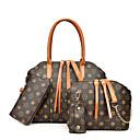 halpa Laukkusetit-Naisten Vetoketjuilla PU Bag setit Laukkusarjat Geometrinen printti 4 kpl kukkaro setti Musta / Rubiini / Ruskea / Syystalvi
