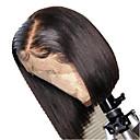povoljno Perike s ljudskom kosom-Ljudska kosa Lace Front Perika Bob frizura Kratak Bob Stražnji dio stil Brazilska kosa Silky Straight Crna Perika 130% Gustoća kose s dječjom kosom Prirodna linija za kosu Za crnkinje 100% Djevica
