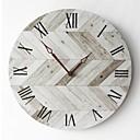 levne Nástěnné hodiny-nástěnné hodiny diy dřevo akryl moderní evropské kolo ztlumení pro obývací pokoj ložnice