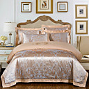 halpa Luxury pussilakanat-Pussilakanasetti setit Ylellisyys / Moderni Silk / Cotton Blend Jakardi 4 osainenBedding Sets