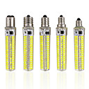 preiswerte LED-Kolbenlichter-1pc 5 W LED Mais-Birnen 1000-1200 lm E14 E12 E17 T 152 LED-Perlen SMD 5730 Abblendbar Warmes Weiß Kühles Weiß 220-240 V 110-130 V