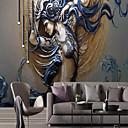 halpa Tapetit-tapetti / Seinämaalaus / Seinäliina Kangas Seinäpinnat - liima tarvitaan Art Deco / 3D / Enkeli