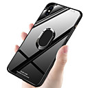 cheap iPhone Cases-Case For Apple iPhone XR / iPhone XS Max Shockproof / Ring Holder Back Cover Solid Colored Hard TPU / Tempered Glass for iPhone XS / iPhone XR / iPhone XS Max