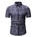 hesapli Erkek Gömlekleri-Erkek Klasik Yaka Gömlek Jakarlı / Desen, Geometrik / Kabile Havuz