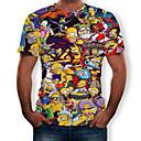 abordables Sets de Maillots Ciclistas y Shorts / Pantalones-Hombre Estampado Camiseta, Escote Redondo Caricatura Arco Iris US36