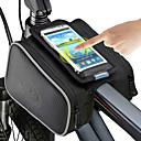 povoljno Biciklističke majice-ROSWHEEL Mobitel Bag Bike Frame Bag 5 inch Touch Screen Biciklizam za iPhone 8/7/6S/6 iPhone X iPhone XR Crn Biciklizam / Bicikl / iPhone XS / iPhone XS Max / Vodootporni patent