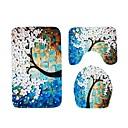 رخيصةأون سجاد-3 قطعات كاجوال حصيرة حوض الاستحمام / مماسح الحمام / سجاد الحمام المواد الخاصة طباعة زهور إبداعي / مضاد للانزلاق