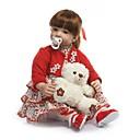 preiswerte Lebensechte Puppe-NPKCOLLECTION NPK-PUPPE Lebensechte Puppe Baby Mädchen 24 Zoll Geschenk Handgefertigt Künstliche Implantation Braune Augen Kinder Mädchen Spielzeuge Geschenk