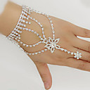 cheap Historical & Vintage Costumes-Women's Wrap Bracelet Ring Bracelet / Slave bracelet Rhinestone Silver Plated Imitation Diamond Star Ladies Bracelet Jewelry White For Wedding Party Daily Masquerade Engagement Party Prom