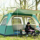 رخيصةأون مفارش و خيم و كانوبي-Sheng yuan 8 أشخاص خيمة التخييم العائلية في الهواء الطلق ضد الهواء مكتشف الأمطار التنفس إمكانية طبقات مزدوجة قطب الماسورة خيمة التخييم 2000-3000 mm إلى Camping / Hiking / Caving تنزه قماش اكسفورد