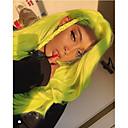 Χαμηλού Κόστους Συνθετικές περούκες με δαντέλα-Συνθετικές μπροστινές περούκες δαντέλας Κυματομορφή Σώματος Πράσινο Κούρεμα με φιλάρισμα Πράσινο 130% Ανθρώπινο πυκνότητα των τριχών Συνθετικά μαλλιά 24 inch Γυναικεία Γυναικεία Πράσινο Περούκα Μακρύ