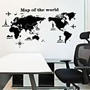 cheap Wall Stickers-Decorative Wall Stickers - Map Wall Stickers Landscape Living Room / Bedroom / Kitchen