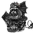 halpa Uutuusvalaisimet-keskiaikainen tumma lohikäärme vartija uutuus työpöydän lamppu kosketusherkkä sähköinen yö lamppu plasma pallo patsas maaginen valo