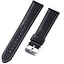 hesapli Saat Aksesuarları-Gerçek Deri / Deri / Buzağı Tüyü Watch Band kayış için Siyah 17cm / 6.69 inç / 18cm / 7 İnç / 19cm / 7.48 İnç 1cm / 0.39 İnç / 1.2cm / 0.47 İnç / 1.3cm / 0.5 İnç