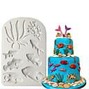 זול כלים לאפייה-עובש סיליקון 3D ים עוגת פונדנט לקשט כוכב ים פגז שוקולד gumpaste עובש