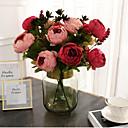 זול פרחים מלאכותיים-פרחים מלאכותיים 1 ענף קלאסי אביזרי במה חתונה אדמוניות פרחים נצחיים פרחים לשולחן