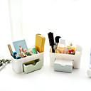 billige Jewelry Storage-Oppbevaring Organisasjon Kosmetisk Makeup Organizer Plast Rektangelform udekket