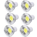 cheap LED Globe Bulbs-6pcs 3 W LED Spotlight 250 lm GU10 GU10 6 LED Beads COB Party Decorative Christmas Wedding Decoration Warm White Cold White 85-265 V / RoHS