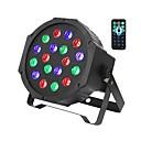 povoljno Svjetlima pozornice-ZDM® 1set 18 W 1000-1200 lm 18 LED zrnca Daljinsko upravljanje Jednostavna instalacija New Design LED svjetlima pozornice RGB 110-240 V Stanovanje Stage