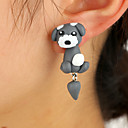 cheap Earrings-Women's Earrings Jacket Earrings Dog Animal Cute for Kids Earrings Jewelry Dark Gray For Date 1 Pair
