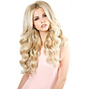cheap Synthetic Capless Wigs-Synthetic Wig Body Wave Style Middle Part Capless Wig Golden Light Blonde Synthetic Hair 24INCH Women's Odor Free / Adjustable / Heat Resistant Golden Wig Long Cosplay Wig / Yes