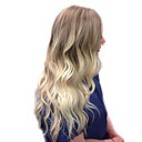 cheap Human Hair Capless Wigs-Human Hair Capless Wigs Human Hair Body Wave / Bouncy Curl Side Part Fashionable Design / New Design / Cool Multi-color Long Capless Wig Women's / Ombre Hair