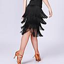 levne Kostýmy na latinu-Latinské tance Spodní část oděvu Dámské Trénink / Výkon Polyester / Spandex Třásně Vysoký Sukně