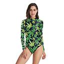 זול חליפות רטובות,חליפות צלילה וחולצות ראש-גארד-NADANBAO בגדי ריקוד נשים בגד ים חליפת גוף נושם ללא שרוולים שחייה טלאים קיץ / גמישות גבוהה