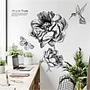 お買い得  ウォールステッカー-北欧モダンミニマリスト手描き花柄ウォールステッカークリエイティブ人格寝室装飾ステッカーリビングルーム自己粘着壁紙