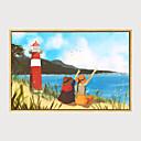 halpa Kehystetty taide-Kehystetty taidepainate Kehystetty kanvaasi - Maisema Kukkakuvio / Kasvitiede Muovi Illustration Wall Art