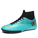 cheap Men's Athletic Shoes-Men's Light Soles Elastic Fabric Spring & Summer Sporty Athletic Shoes Soccer Shoes Non-slipping Black / Green / Blue