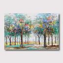 levne Krajiny-Hang-malované olejomalba Ručně malované - Abstraktní Květinový / Botanický motiv Současný styl Moderní Obsahovat vnitřní rám / Reprodukce plátna