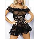 povoljno Seksi tijela-Žene Otvorena leđa Super seksi Odijelo Noćno rublje Jednobojni Obala Crn M L XL / Bez naramenica