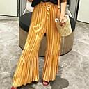 economico Tappetini e tappeti-Per donna Essenziale Largo A zampa Pantaloni - A strisce Vita alta Rosso Giallo S M L