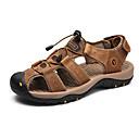 povoljno Muške sandale-Muškarci Kožne cipele Koža Ljeto Sportski / Ležerne prilike Sandale Planinarenje / Cipele za vodu Non-klizanje Crn / Bijela / Tamno smeđa / Vanjski