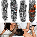 Недорогие Временные татуировки-4 pcs Временные татуировки Экологичные / Одноразового использования Корпус / плечо / назад Картон