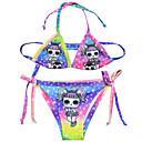 hesapli Yüzme Cosplay-Bikini Mayo Mayo Cosplay Kostümleri Plaj kızı Çocuklar için Cosplay Kostümleri Cosplay Cadılar Bayramı Mor Karton Resim Yılbaşı Cadılar Bayramı Karnaval