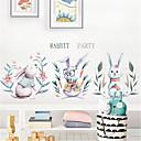 billige Vægklistermærker-håndmalet nordisk stil søde kaninvæg klistermærker børneværelse dekoration børnehave layout gratis klistermærker tapet selvklæbende