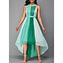 رخيصةأون الأزياء التنكرية التاريخية والقديمة-فستان نسائي A line مخطط شيفون موضة غير متماثل قبة مرتفعة حول الرقبة