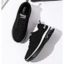 hesapli Kadın Sneakerları-Kadın's Ayakkabı Tissage Volant İlkbahar & Kış Atletik Ayakkabılar Koşu Düz Taban Günlük / Dış mekan için Siyah / Koyu Mavi / Siyah / Beyaz