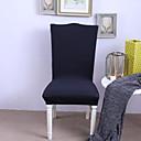 رخيصةأون غطاء-غطاء كرسي لون سادة مصبوغ بخيط الغزل بوليستر الأغلفة