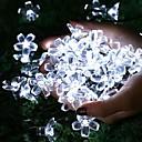 halpa LED-hehkulamput-aurinko vedenpitävä merkkivalo 50 led 7m22ft kirsikankukka kukka monivärinen valkoinen lämmin valkoinen puutarha jouluvalot ulkona sisätiloissa häät patio loma koristeet 1 setti