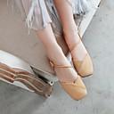 halpa Naisten sandaalit-Naisten PU Kevät kesä minimalismi Sandaalit Matala korko Tylpät kärjet Beesi / Keltainen / Pinkki